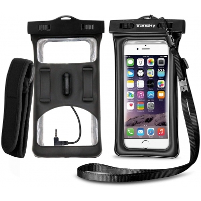 Floatable Waterproof Phone Case-Black